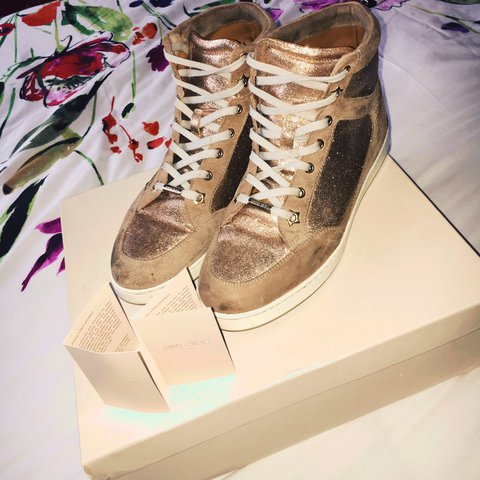 db1f09615ae6 Jimmy choo Tokyo trainers wore a hand full of times paid for - Depop
