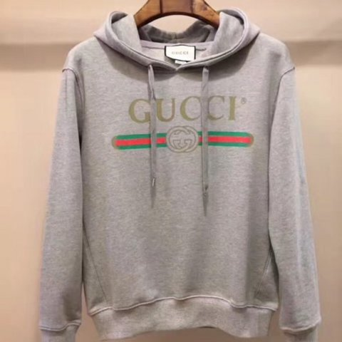 0c20bebf70c62 Gucci Vintage Hooded Sweatshirt Grey 4 sizes available. (S