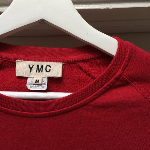 d0ed18a9c YMC plain red crewneck jumper, RRP £105 Really nice, high - Depop