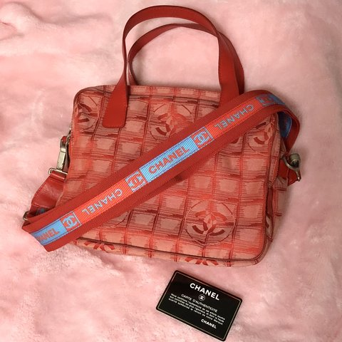 b1b6eed8d329  🔥 RARE  CHANEL Travel Line Convertible Side Bag (FREE red - Depop