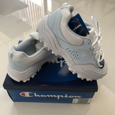 054f69c930f NWT Champion baby blue pastel dad sneakers. Adorable chunky - Depop