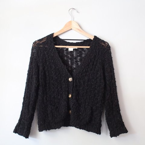 aeef253b71 🌻cute black knit sweater🌻 Soft and fuzzy