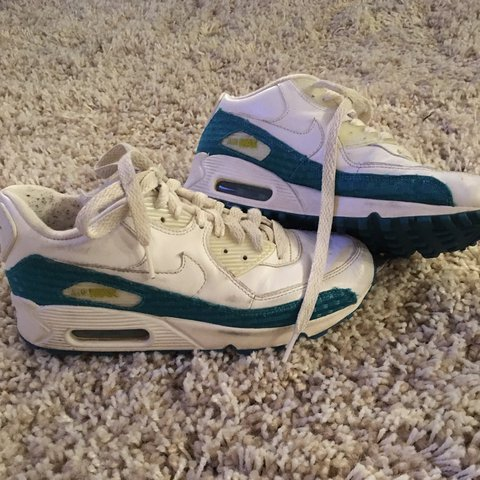 Old School Nike Air Max. White and blue and light green. a - Depop cb5a08c1c