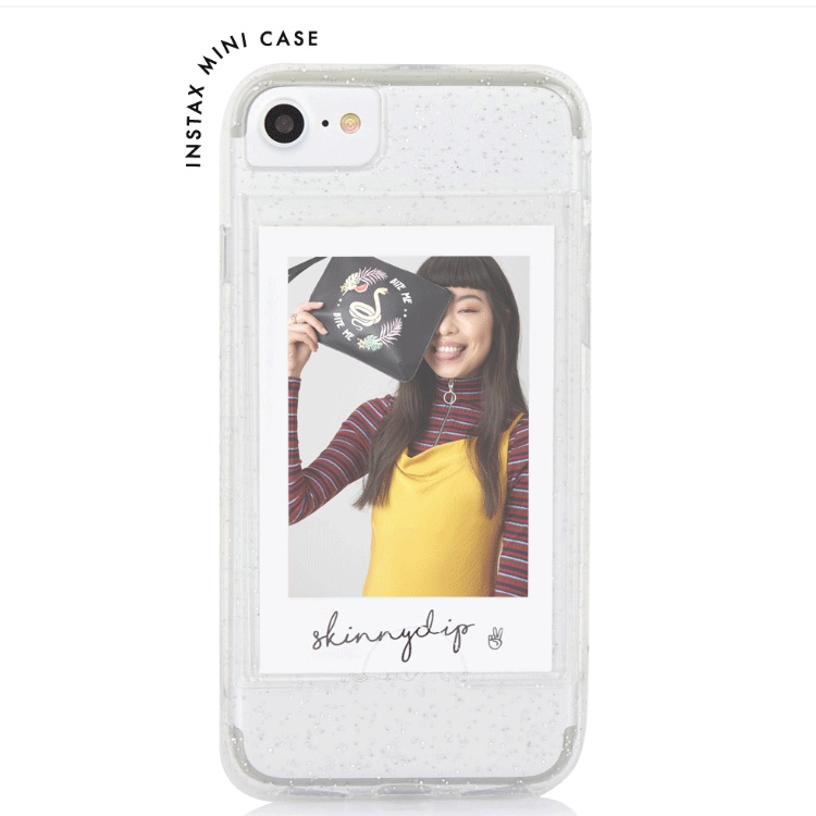 newest aaa68 e7081 SKINNYDIP clear polaroid case | opened but never... - Depop