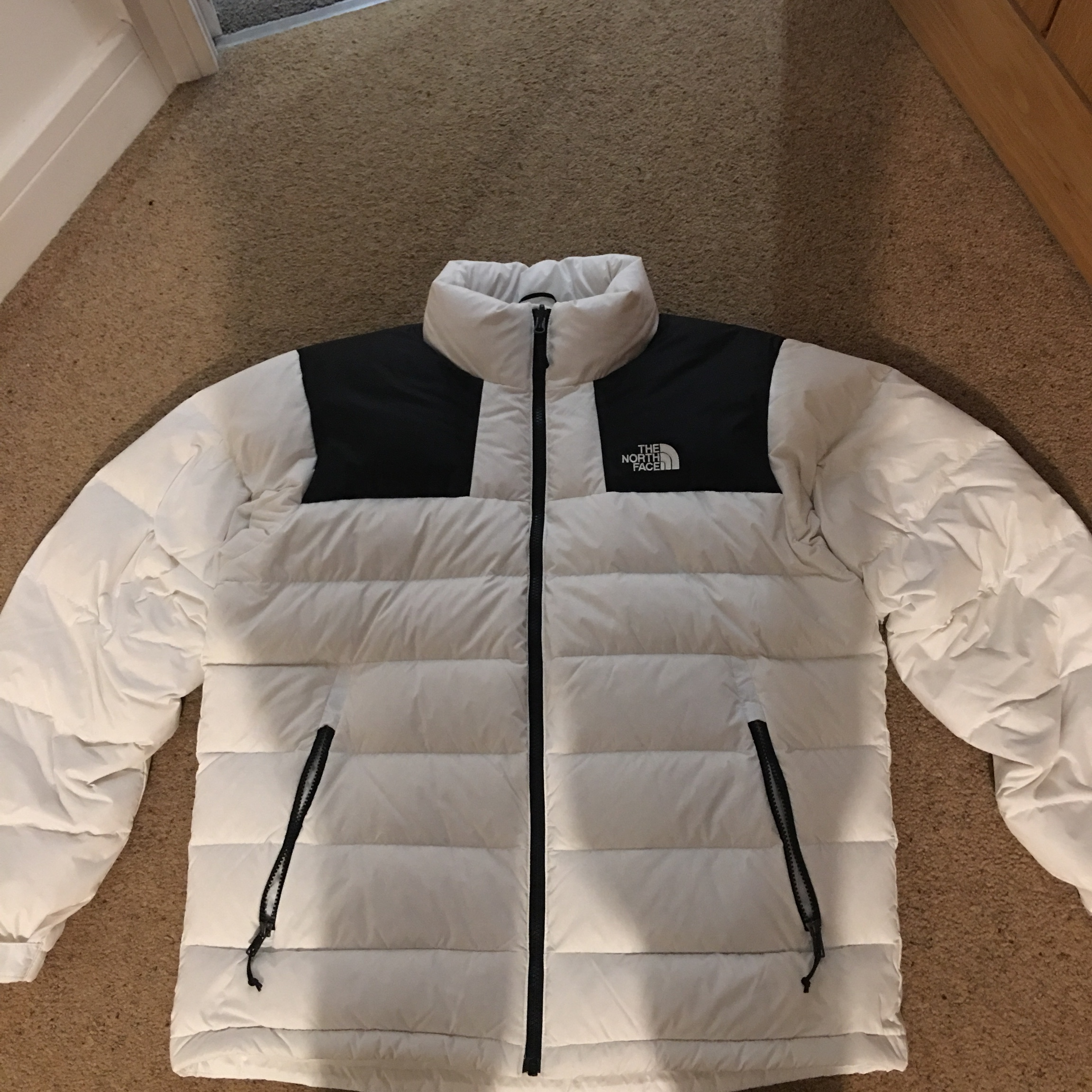 8c2215886 The North Face white Nuptse puffer jacket 700 down... - Depop