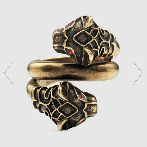 b7ffbd3eb Gucci tiger ring size 13 , RPM was £250, some fading on the - Depop