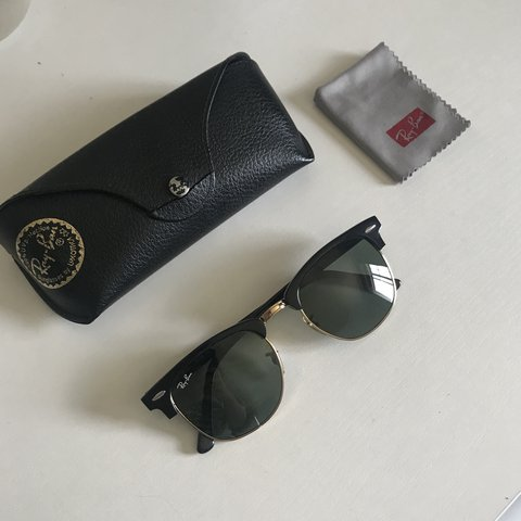 1ea228df1ce 100% authentic ray-ban clubmaster sunglasses. great well of. - Depop