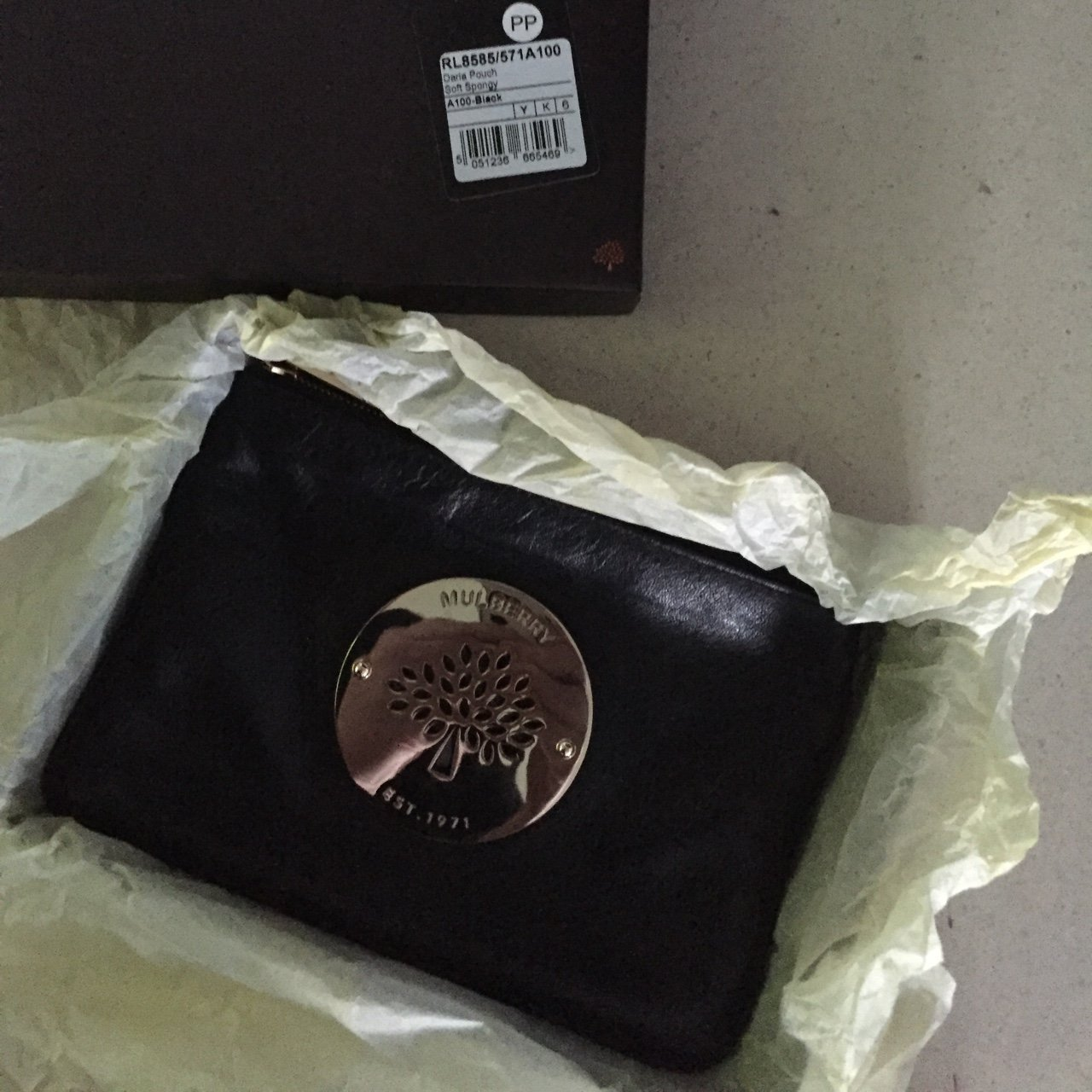Genuine Mulberry Daria pouch in black. Bought by me from of - Depop 33fe542c11a55