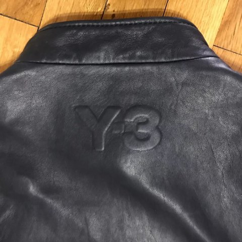 adidas y3 leather jacket