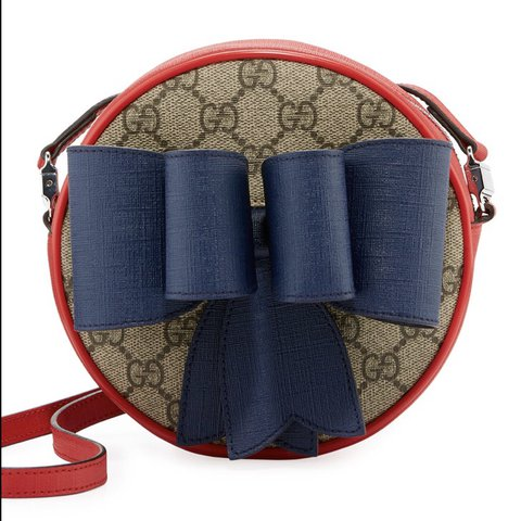 dce84677cde Gucci Kids w Supreme Bow Round Crossbody GG Shoulder Bag out - Depop