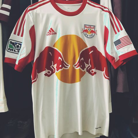 f02bbb3c0cf Red Bull MLS Soccer jersey. Great condition!! Amazingly - Depop