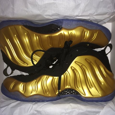 5f66f3a6ffc Nike Foamposite One  Metallic Gold  - UK 10   US 11- - £200 - Depop