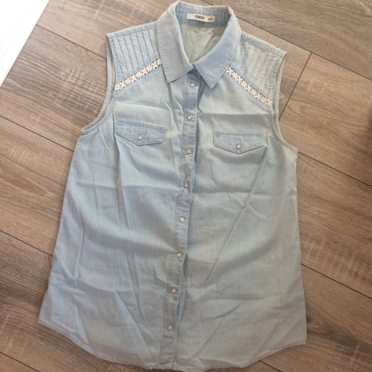 15fcb15225 Sleeveless Denim Shirt With Lace – EDGE Engineering and Consulting ...