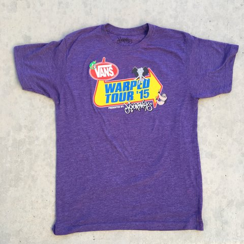 Vans Warped Tour 2015 Staff tee! Marked size large 9f273d772
