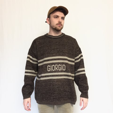 Vintage Giorgio sweater - size XL - men s baggy oversized - Depop 5f9b65672