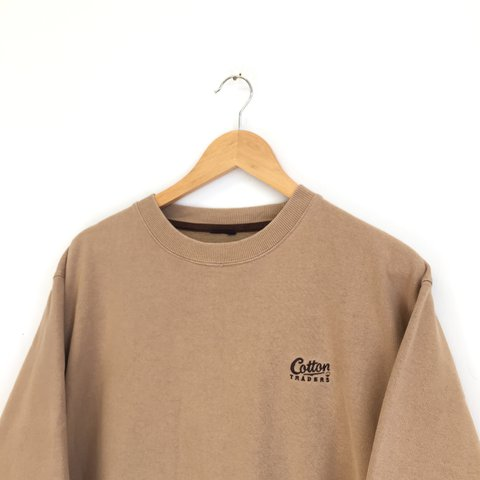 079a291e3a6 Vintage cotton traders sweater - tan camel colourway - size - Depop