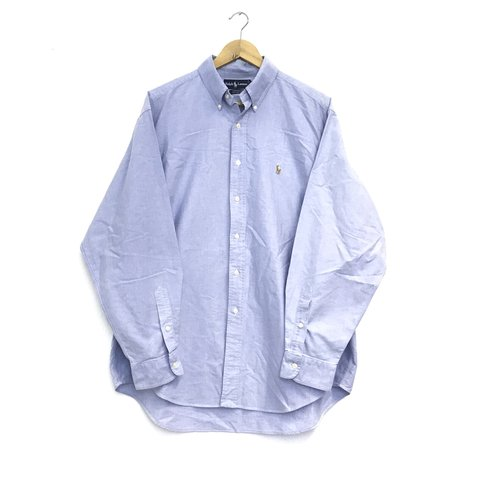 fb9734ca @atikvintage. in 8 hours. Darlington, United Kingdom. Vintage Ralph Lauren  long sleeve shirt - fits as an XL - blue longsleeve urban outfitters button  up ...