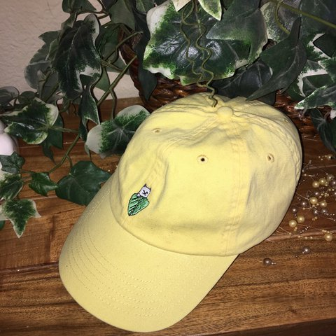 784f36ea16a5c Rip n Dip Nermal Dad Hat💛 Couldn t figure out how to style - Depop