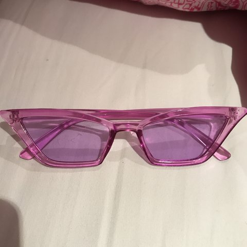 a43587c1 REDUCEDreally cool purple lilac tinted glasses y2k 90s seen - Depop