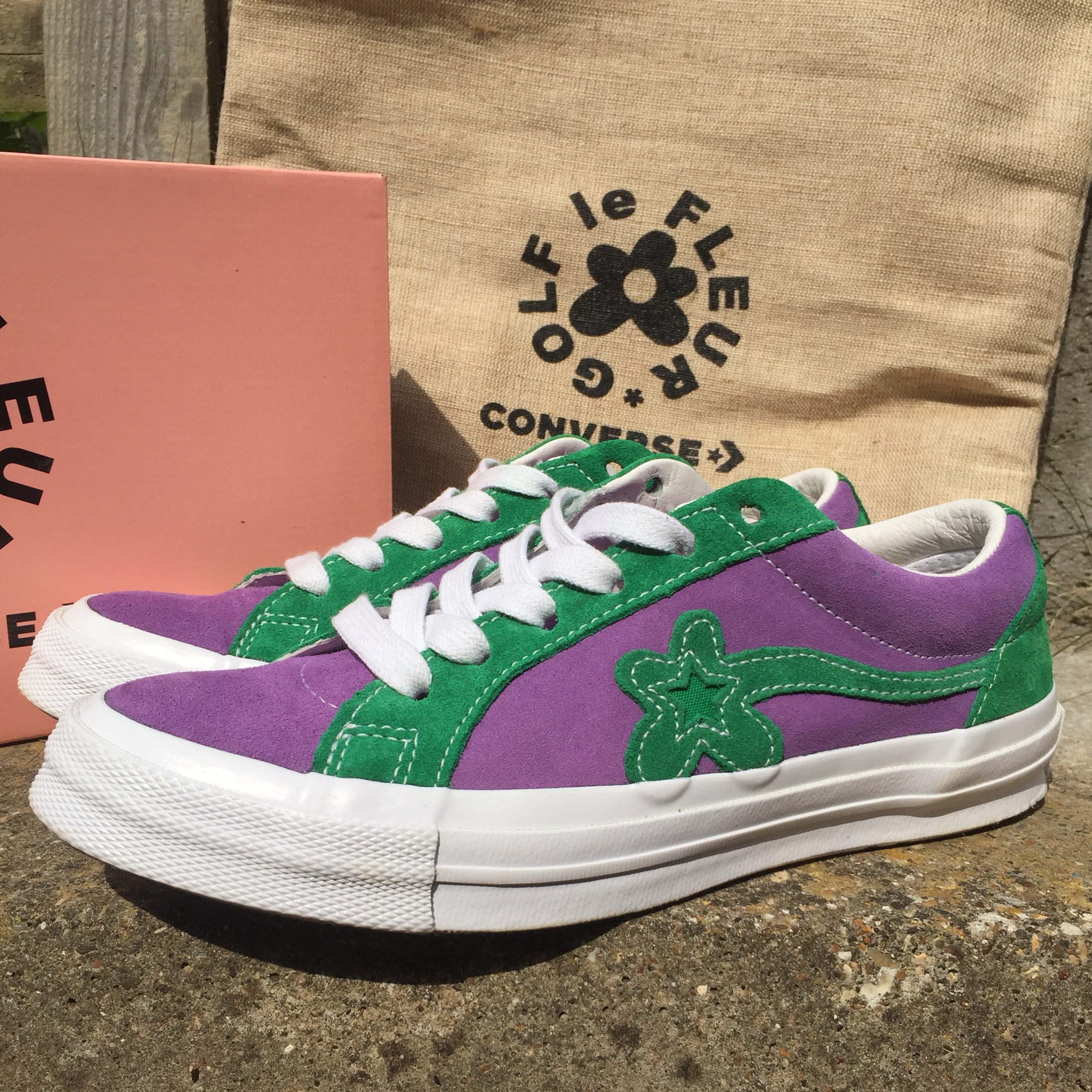 Golf Le Fleur X Converse One Star Purple Heart Depop