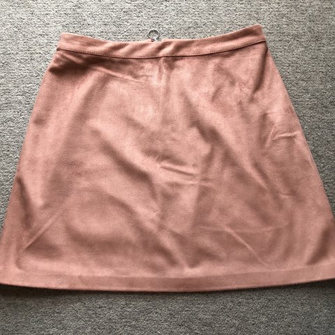 ef975eb477 @elise0899. 2 months ago. Poole, United Kingdom. Faux Suede-Style Skirt  Blush pink colour