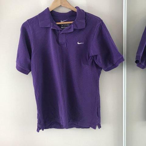 612b2c59 Men's Purple Nike Polo Shirt, selling for my dad. Still in M - Depop