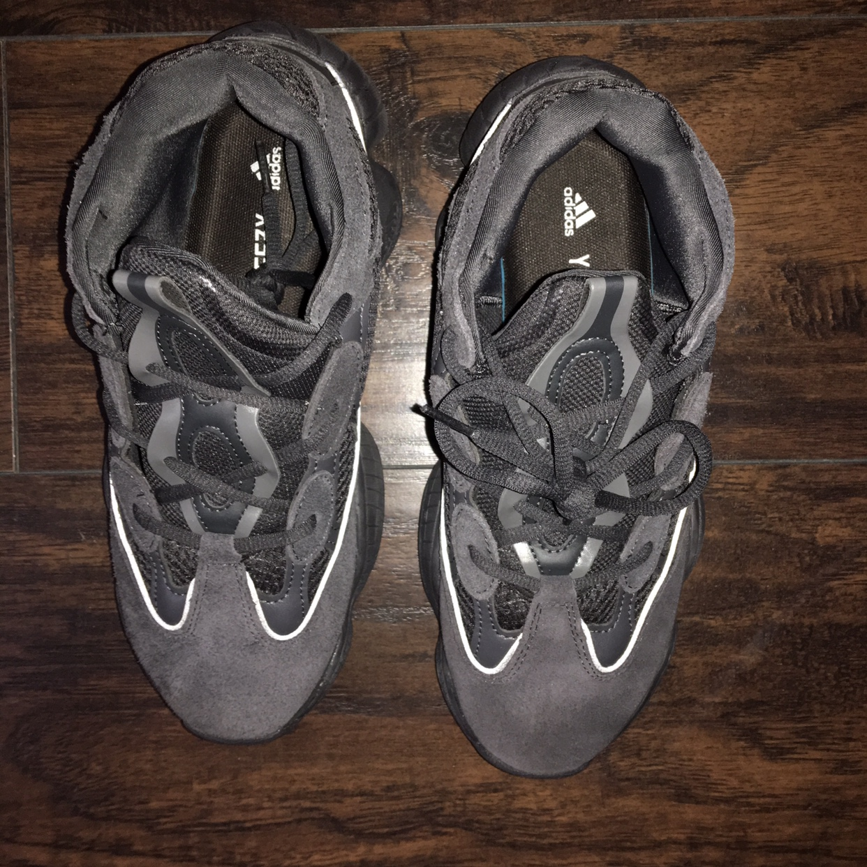 quality design 7e17b aa58f on hold Adidas Yeezy 500 carbon grey, not authentic... - Depop