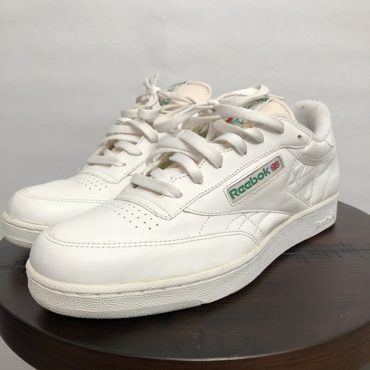 9c9418b0d74 Amazing vintage 80 s or 90 s Reebok s in the classic white I - Depop