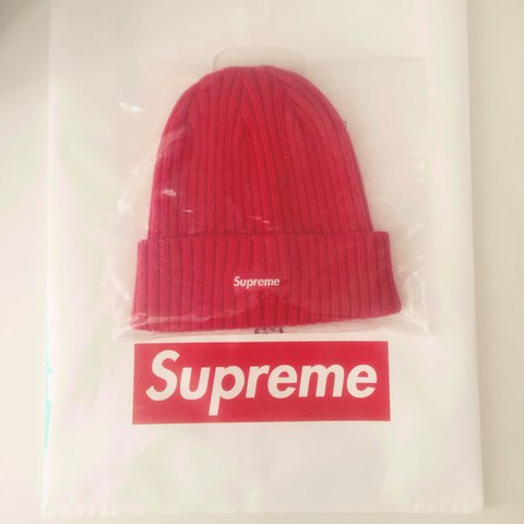 82ba859fefa73 Red supreme over dyed beanie