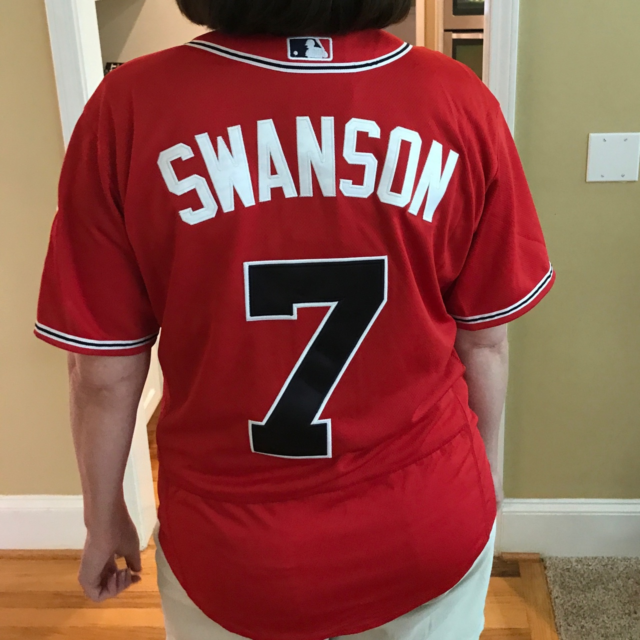the best attitude 53358 3b490 Patriotic Dansby Swanson Braves Jersey - Depop