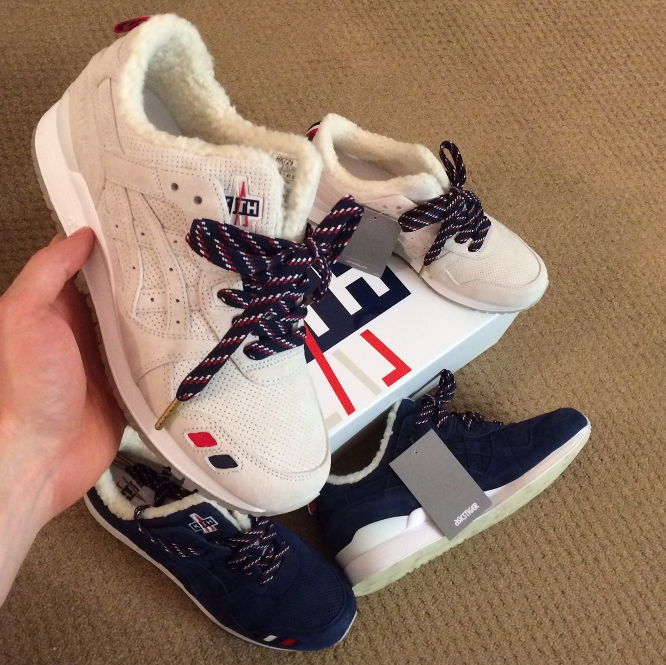 Kith x Moncler x Asics Gel Lyte III Size 10.5 Brand New in