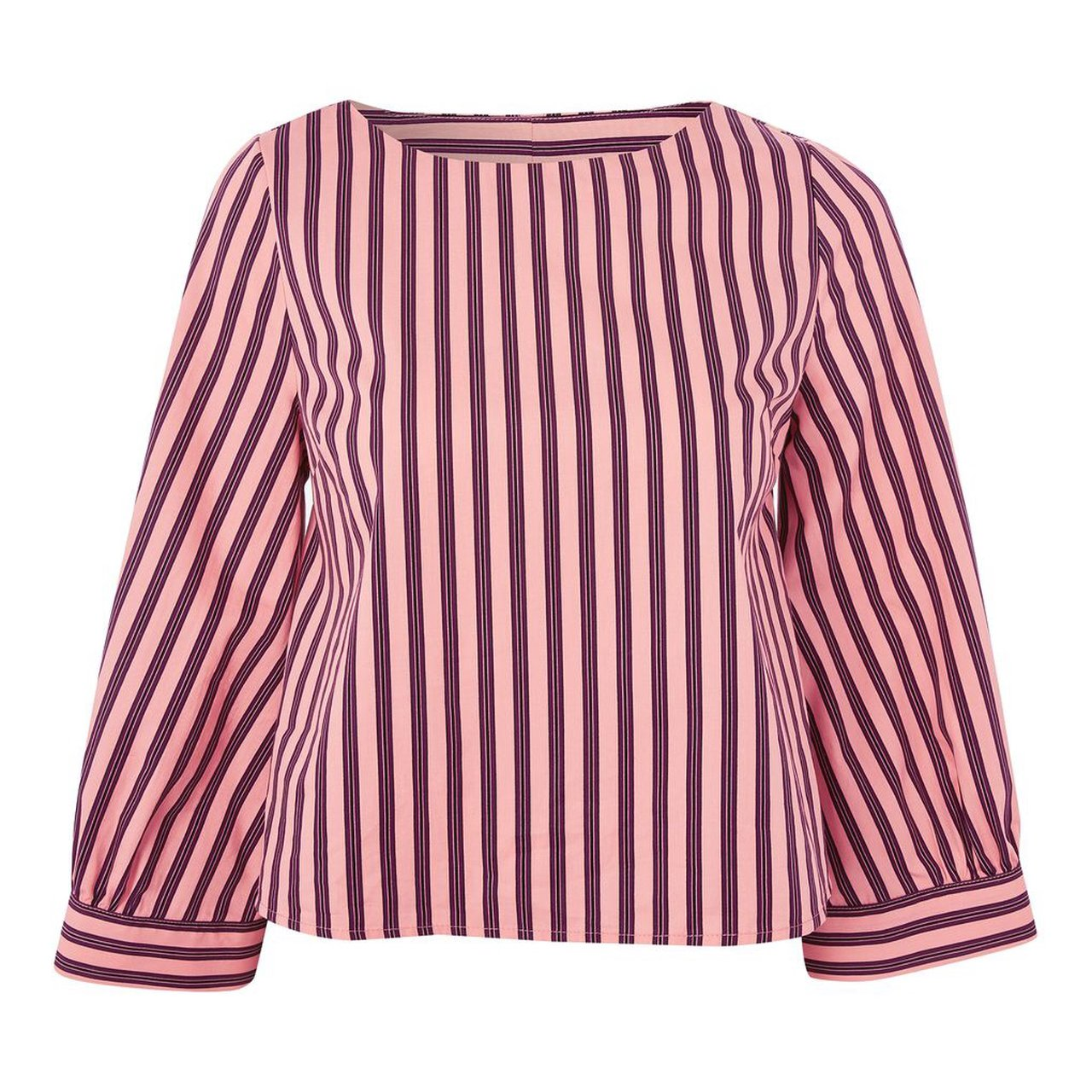 4937fb31029 Topshop wide sleeve pink stripe