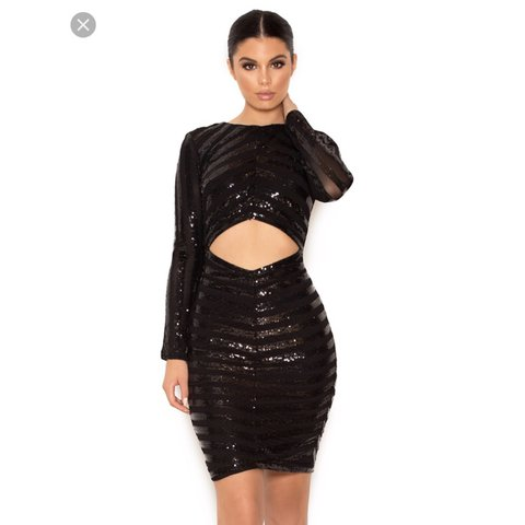 71a2f7220676 NRW LOWER PRICE!!!! House of CB sequin Suna black dress in L - Depop