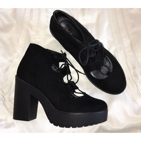 da4e7f8813e 🖤incredible black suede lace up heel shoe from new look