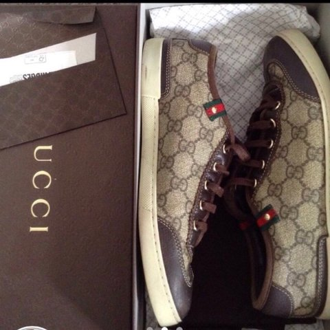 f49766bc6f0d Women s Authentic Gucci trainers size 3 with box and dust in - Depop