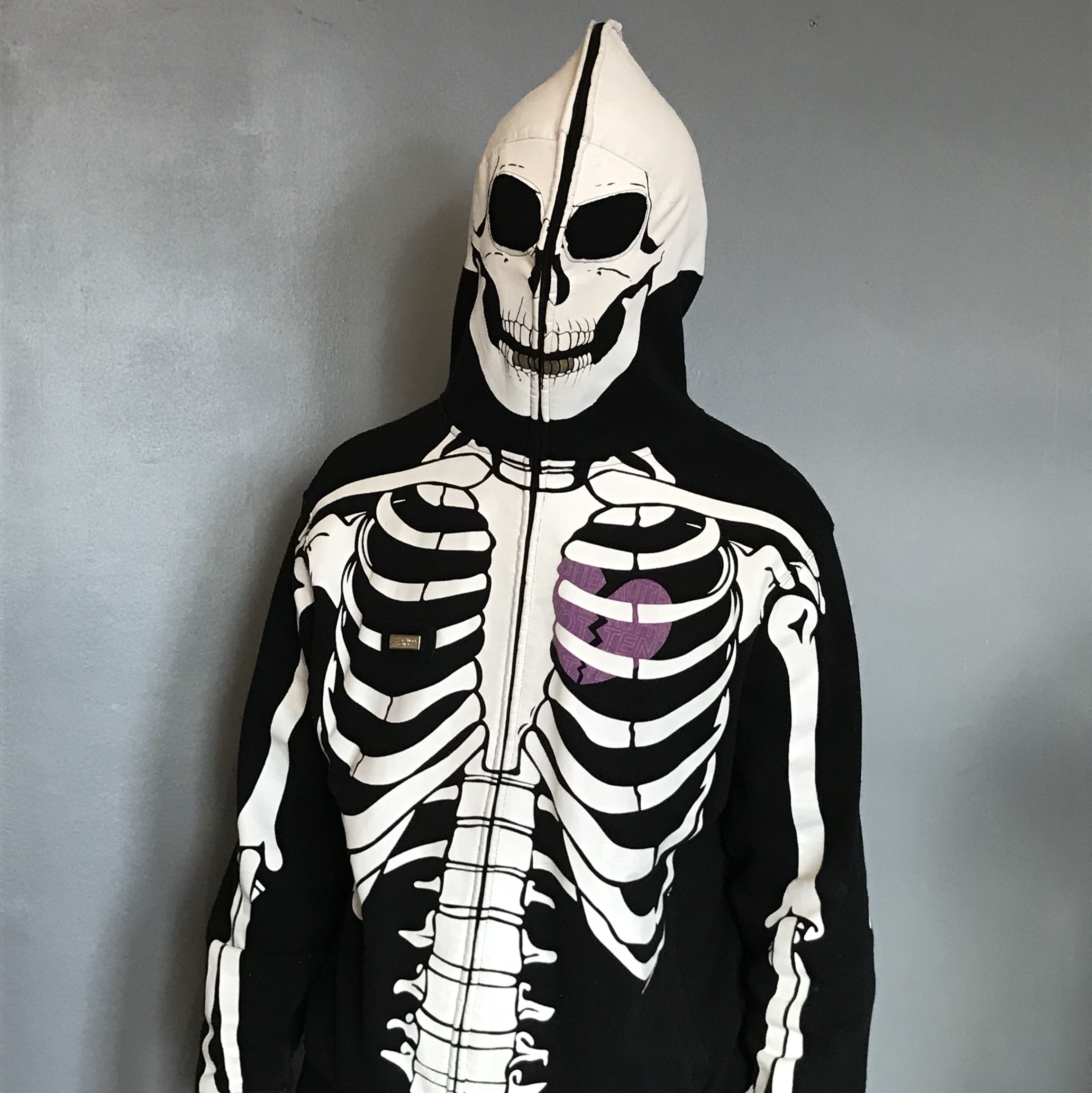 Lrg Skeleton Hoodie Size S Condition 9 10 Signs Depop