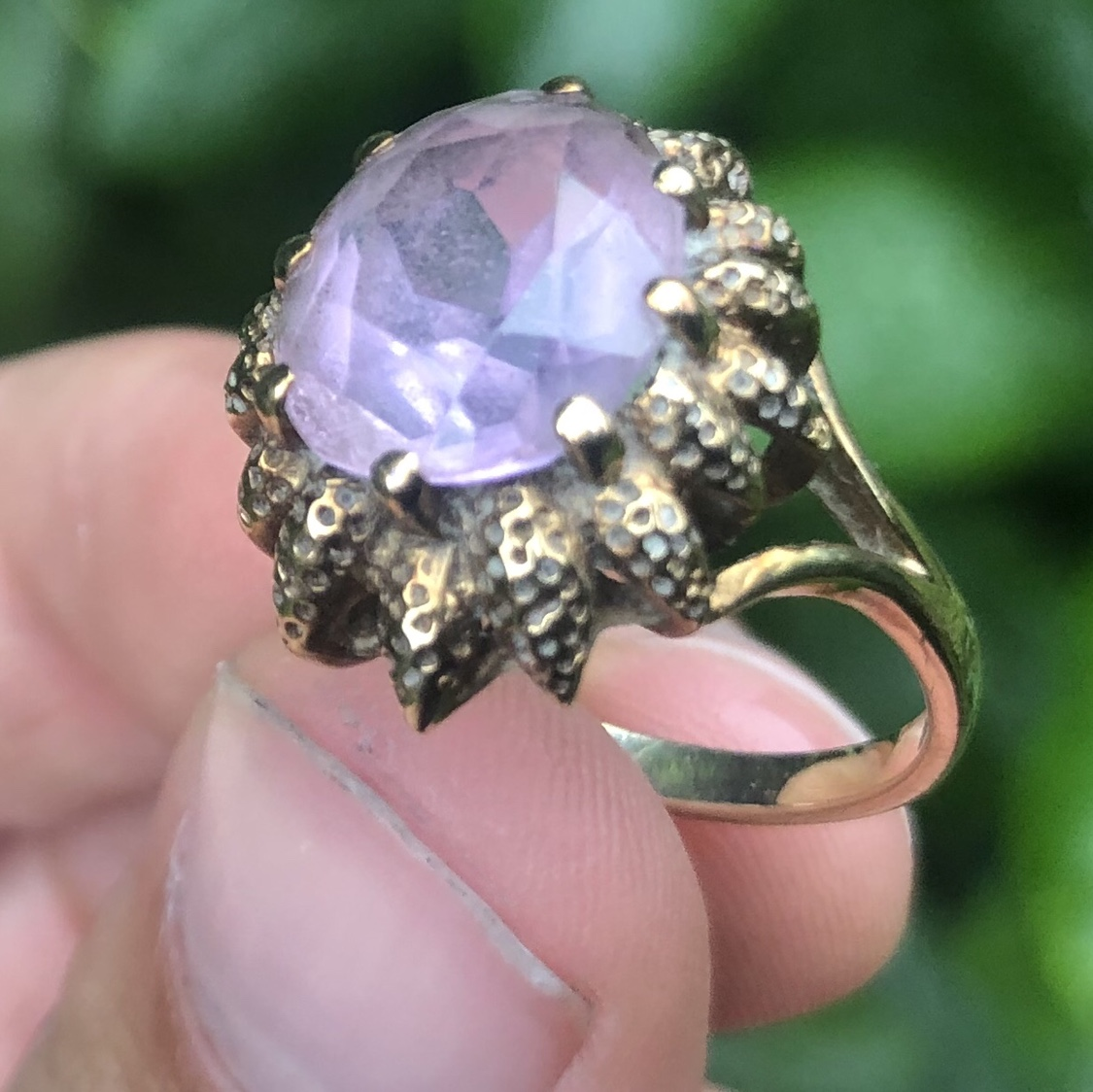 9ct Yellow #Gold #Amethyst #Ring - 0