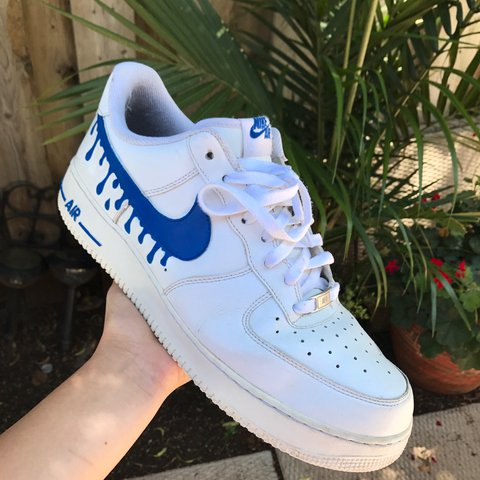 more photos b64ed 566ab 💧Blue Drippy Air Force 1💧 - I can do any other colour you - Depop