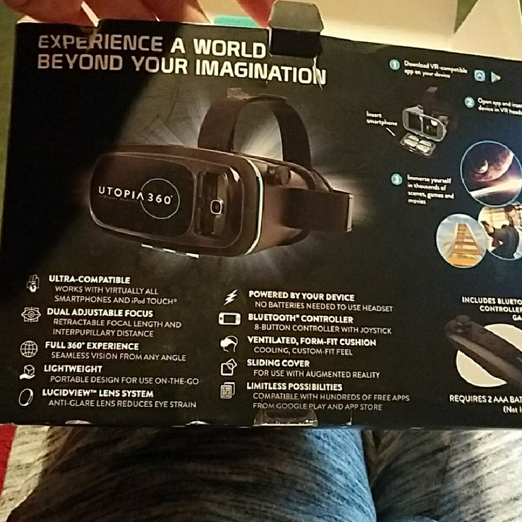 Utopia 360 Virtual Reality Headset  Compatible with    - Depop