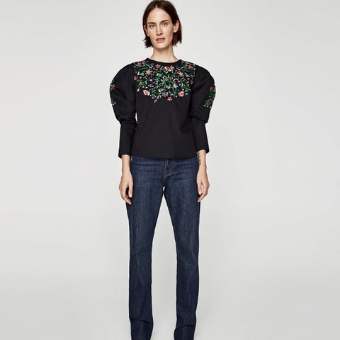16a3e3000159fe @chinu. 29 days ago. Aldershot, United Kingdom. Zara blouse/top with floral  embroidery ...