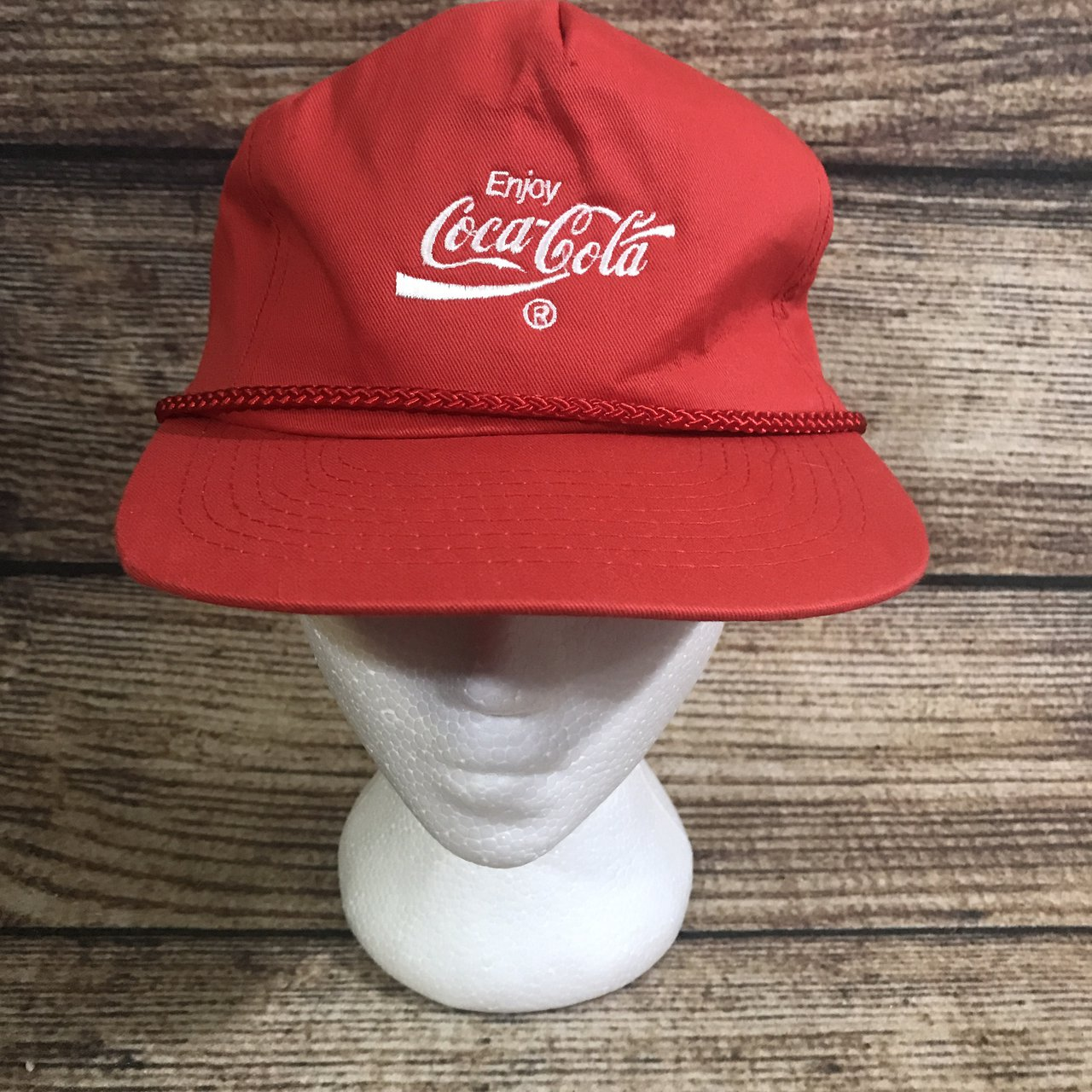 ad65651a07a Vintage 90s Coca Cola Coke snapback hat Good condition No - Depop
