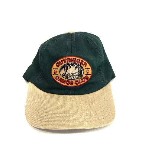 154a93f6eb693 Vintage Outrigger Canoe Club Hat 90s Paddling Good all - Depop
