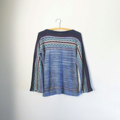 dd196d86cef vintage 70s space dyed striped sweater