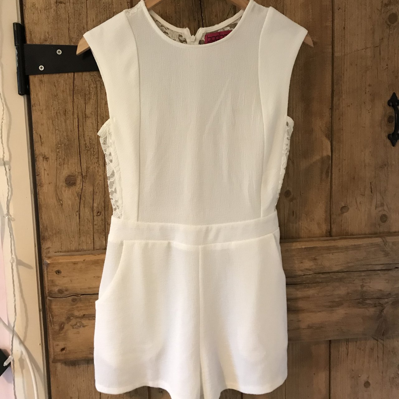 5da4e2c5eb08 White lace playsuit