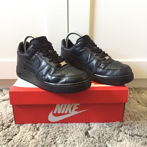 3b3641bf2b01 Nike Air Force 1. Black. Slight scuff marks on upper surface - Depop