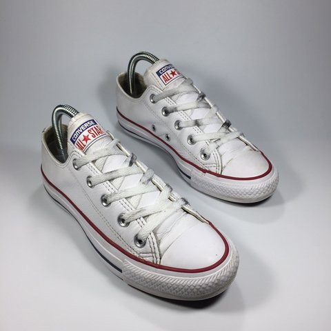 f335706aa6d Low Converse. White. Dirt on laces and minor wear at heels 4 - Depop