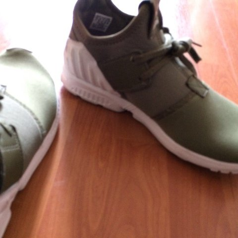 ed1d82e1c Adidas Zx flux Torsion shoes For Sale Khaki Green very nice - Depop