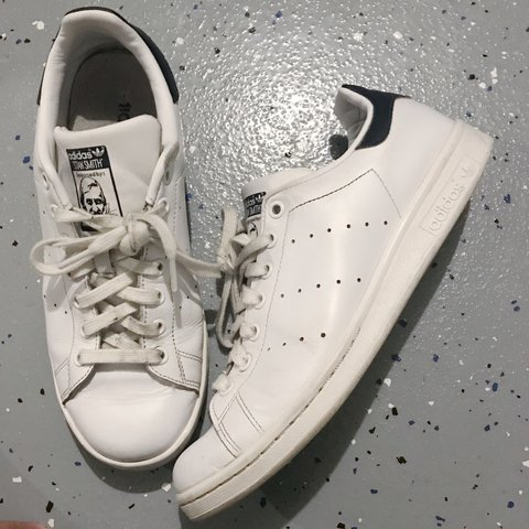e1bc28ad3f0d0 Adidas Stan Smith w  Navy Blue Tab - I was obsessed with so - Depop