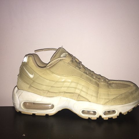 huge discount 9e749 f2ce1 Yellow cream beige Nike air max 95s Perfect condition as I - Depop