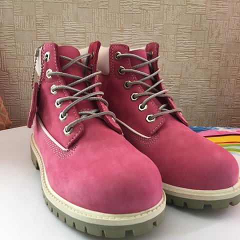 Pink timberlands for kids 1b434bfd8